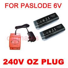 2 Batteries For PASLODE WSQ3490 Cordless gas framing nail gun 6V Ni-Cd charger