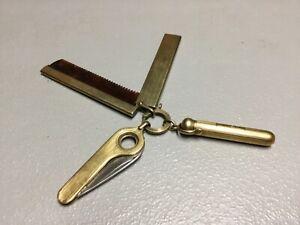 Vtg 14K Gold Empire Pocket Knife, 14 K Gold Pen 14k Gold R Blankinton Comb COMBO