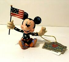 JIM SHORE  DISNEY TRADITIONS MICKEY MOUSE FIGURE THE FOURTH OF JULY ORNAMENT BOX