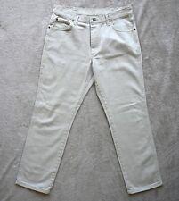 Mens WRANGLER Jeans Cream Regular fit Straight Leg Premium Denim Size W36 L32