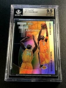 KOBE BRYANT / SHAQUILLE O'NEAL 2002 TOPPS TANDEMS HOLO REFRACTOR INSERT BGS 9.5