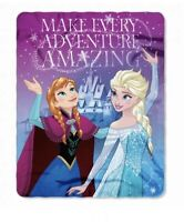Disney Frozen Fleece Throw Blanket Soft  Warm Sister Adventure  Amazing 40x50""