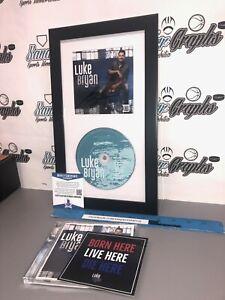 LUKE BRYAN SIGNED AUTOGRAPHED CD INSERT DISPLAY FRAMED MATTED BECKETT BAS COA