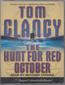 Tom Clancy The Hunt For Red October 2 Cassette Audio Book Submarine Thriller