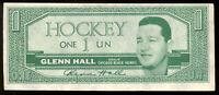 1962-63 TOPPS HOCKEY BUCK Dollars Glenn Hall EX+ Chicago Black hawks Insret