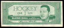 1962-63 TOPPS HOCKEY BUCK Dollars Glenn Hall EX+ Chicago Black hawks Insret