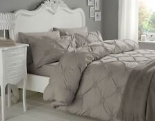 RUCHED CIRCLES GREY 180 THREAD COUNT 100% COTTON KING SIZE DUVET COVER