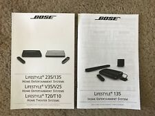 Bose Lifestyle 135 Set up Guide and Operating Guide