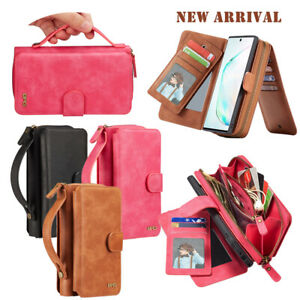 Magnetic Leather Card Wallet Stand Case Cover For iPhone 11PRO Samsung S20 Ultra