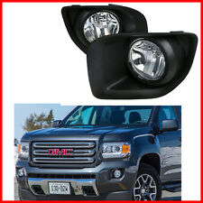 For 2015-2018 GMC Canyon Fog Light OE Style Front Bumper Set Assembly Pair Kits