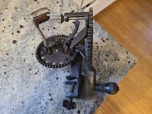 Antique Hudson Parer Co Iron Apple Peeler Pat. 1882