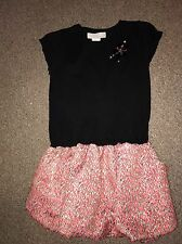Girls Age 5-6 Years Black And Orange Designer Camilla Christmas Party Dress