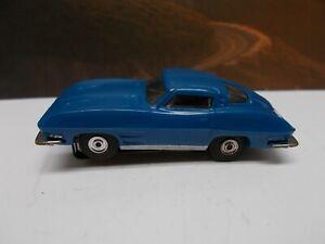 """AURORA MoDeL MoToRing #1363 CORVETTE SPLIT WINDOW in BLUE """"RARE"""" NMINT"""""""