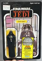 Star Wars 1983 ROTJ Darth Vader 77-back-A Unpunched MOC Case Fresh NM+ AFA CAS