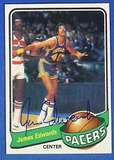 JAMES EDWARDS autographed  signed 1979-80 Topps Indiana Pacers