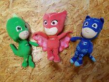 PJ Masks 3 Stk. Figuren Set Spielzeug Plüsch Helden Catboy Gecko Eulette * TOP *