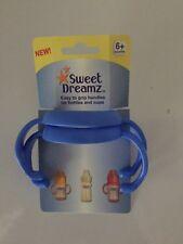 Baby facile Grip Maniglie per bottiglie e bicchieri da Sweet Dreamz 6M+ 2 pacco Blu Nuovo