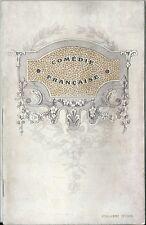 Programme théâtre Comédie Française 1912 Bagatelle