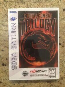 Replacement Case (NO GAME!) Mortal Kombat Trilogy - Sega Saturn