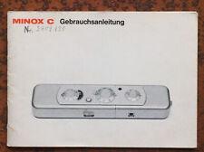 Minox C  - Anleitung von VII/71