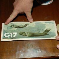 C-17 MCDONNELL DOUGLAS VINTAGE AIRCRAFT BUMPER STICKER USAF GLOBEMASTER