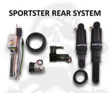 Dirty Air Black Rear Aluminum Air Ride Shocks Suspension Kit Harley Sportster XL