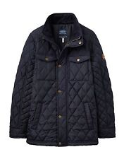 Joules Boys Marine Navy Blue Stafford Quilted School Coat Jacket Warm Aw17 7-8 Years