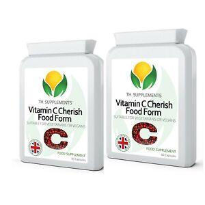 Vitamin C Cherish Food Form 120 Capsules ( 2 packs x 60 )