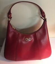New Salvatore Ferragamo Red Leather Hobo Handbag $995