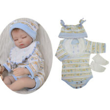 Rompers Bib Hat Socks Shoes Clothes for 17-18inch Reborn Baby Girl/Boy Doll