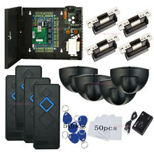 Complete 4 Doors Access Control Systems & USA Strike Lock Exit Motion Sensor PSU