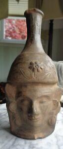Antique Asian Detailed Figural Pottery Vase