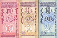 @@@ MONGOLIA LOTE 3 BILLETES MONGO 1993. BELLOS Y EN OFERTA DE PROMOCIÓN. VER. >