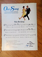 1967 United AirLines Ad Our Song Sung to Your Husband before Next Business Trip