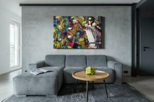 The Wolf of Wall Street 'throwing money' Canvas Print Wall Art Home