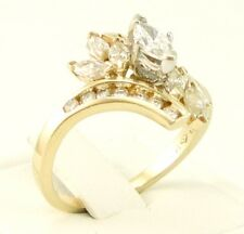 14kt Diamond Ring, Yellow Gold, Marquise Round, 3/4 Carat, Size 6-3/4