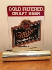 1988 Vintage Miller Genuine Draft Beer Advertising Light - Tested and Works