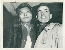 1953 Pearl Bailey with Husband Louie Bellson Original News Service Photo