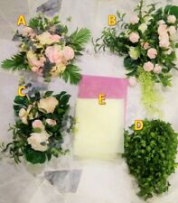 Floral Decoration Set for Arch for Garden Wedding Party