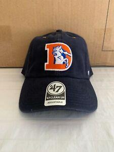 Denver Broncos Throwback NFL '47 Brand Carhartt Men Navy Clean Up Adjustable Hat