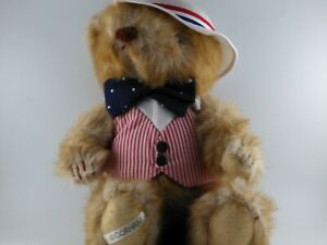 """Vintage GORHAM Bear Collection Bear Of The Month  """"JONATHAN JULY BEAR"""" 1986"""