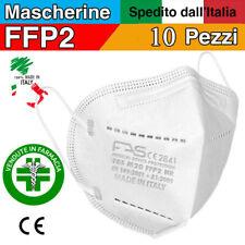 10 Mascherine Protettive FFP2 CE Senza Valvola Mascherina MADE IN ITALY