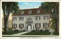 Portsmouth NH Women's City Club c1920 Postcard
