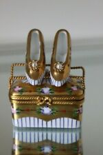 French Limoges Trinket Box Shoe Display Box Pumps Shoes