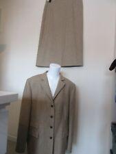 BNWOT neu selektiven 2-teilig braun beige Kostüm passendes Outfit Größe 18 (44)