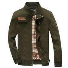 New Mens Military Style Jacket zipper Double pocket 100%Cotton jacket Coat MN239