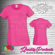 FRUIT OF THE LOOM LADIES Plain Lady Fit T-Shirts Tee T Shirt | ALL SIZES XS-2XL