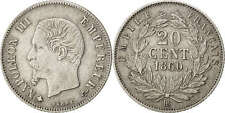 Monnaies, Second Empire, 20 Centimes, Napoléon III, 1860, Strasbourg, KM #73501