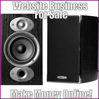 BOOKSHELF SPEAKERS Website Earn $85.44 A SALE|FREE Domain|FREE Hosting|Traffic