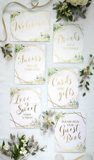 Welcome Wedding Signs x 6 Reception Decorations Engagement Party